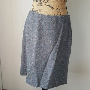 Tahari Tweed Wool Blend Straight Skirt